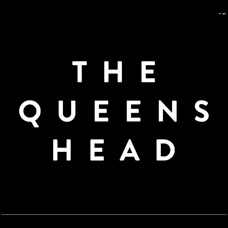 The Queens Head Logo Negative
